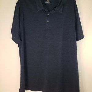 Alfani Men's size 3x polo shirt-blue nwt short sle